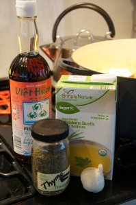 Food - fish sauce, thyme, chicken stock