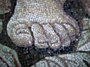 Rome - mosaic foot st peters