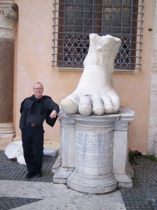 Rome -  bill with constantines foot