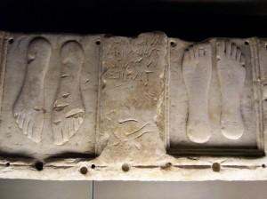 Rome -  feet in tabularium of capitoline museum