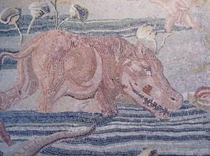 33 mosaic hippo